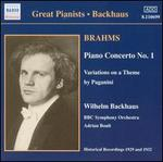 Brahms: Piano Concerto No. 1; Paganini Variations