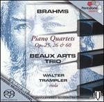 Brahms: Piano Quartets, Opp. 25, 26, 60
