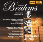 Brahms: Variations for Orchestra, Op. 56; Mozart: Concerto for Piano and Orchestra No. 23; Wolf-Ferrari: The Jewels o