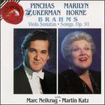 Brahms: Viola Sonatas; Songs, Op. 91