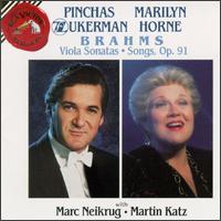 Brahms: Viola Sonatas; Songs, Op. 91 - Marc Neikrug (piano); Marilyn Horne (soprano); Martin Katz (piano); Pinchas Zukerman (violin)
