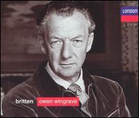 Britten: Owen Wingrave; Six Hölderlin fragments; The Poet's Echo - Benjamin Britten (piano); Benjamin Luxon (vocals); Galina Vishnevskaya (soprano); Heather Harper (vocals);...