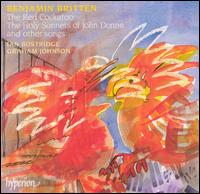 Britten: The Red Cuckatoo, The Holy Sonnets of John Donne - Graham Johnson (piano); Ian Bostridge (tenor)