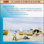 Britten: Variations On A Theme Of Frank Bridge; Matinées Musicales; Soirées Musicales