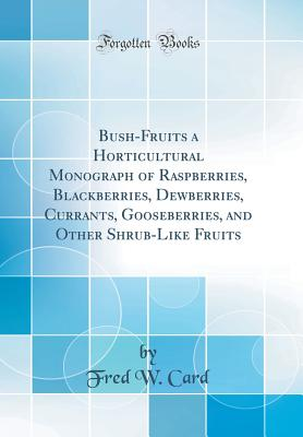 Bush-Fruits a Horticultural Monograph of Raspberries, Blackberries, Dewberries, Currants, Gooseberries, and Other Shrub-Like Fruits (Classic Reprint) - Card, Fred W