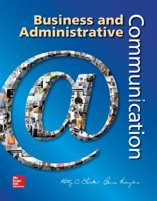 Business And Administrative Communication Book By Kitty O Locker