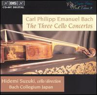 C.P.E. Bach: The 3 Cello Concertos - Bach Collegium Japan (chamber ensemble); Hidemi Suzuki (cello); Hidemi Suzuki (conductor)
