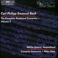 C.P.E. Bach: The Complete Keyboard Concertos, Vol. 3 - Miklós Spányi (harpsichord)