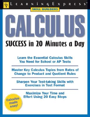 Calculus Success in 20 Minutes a Day - Thomas, Christopher