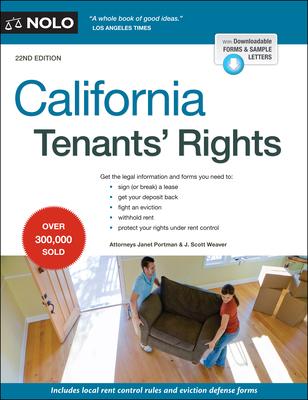 California Tenants' Rights - Portman, Janet, and Weaver, J Scott