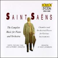 Camille Saint-Saëns: Chamber & Orchestral Pieces For Various Instruments - Francis Orval (horn); Gabriel Tacchino (piano); Georges Mallach (cello); J.P. Kemmer (organ); Ruggiero Ricci (violin);...