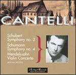 Cantelli Conducts Schumann, Schubert, Mendelssohn