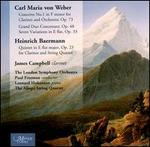 Carl Maria von Weber: Concerto No. 1; Grand Duo Concertant; Heinrich Baermann: Quintet  for Clarinet & String Quartet