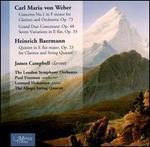 Carl Maria von Weber: Concerto No. 1; Grand Duo Concertant; Heinrich Baermann: Quintet  for Clarinet & String Quartet