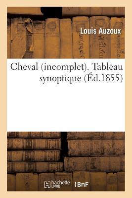 Cheval (Incomplet). Tableau Synoptique - Auzoux-L