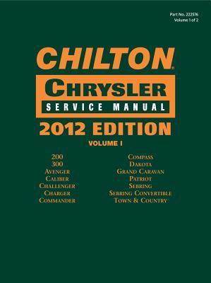 Chilton Chrysler Service Manuals, 2012 Edition, Vol. 1 & 2 - Chilton