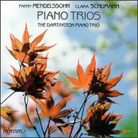 Clara Schumann & Fanny Mendelssohn Piano Trios - Dartington Piano Trio; Frank Wibaut (piano); Michael J. Evans (cello); Oliver Butterworth (violin)