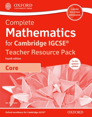 Complete Mathematics for Cambridge IGCSE (R) Teacher Resource Pack & CD (Core) - Bettison, Ian