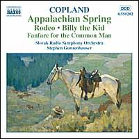 Copland: Appalachian Spring; Rodeo; Billy the Kid; Fanfare for the Common Man - Czecho-Slovak Radio Symphony Orchestra; Stephen Gunzenhauser (conductor)
