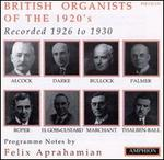 British Organists Of The 1920's