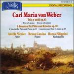 Carl Maria von Weber: Trio In G Minor/6 Sonatas For Flute And Piano, Op.10