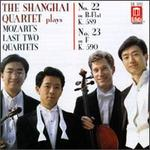 The Shanghai Quartet Plays Mozart's Last Two Quartets - No. 22 K 589, No. 23 K. 590