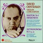 Bartok, Hindemith, Szymanowski: Violon Concertos