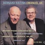 Brahms: Piano Concerto No. 2; Cello Sonata, Op. 78