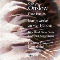 Onslow / H�nten: Four Hand Piano Duets - Horst Gobel (piano); Liu Xiao Ming (piano)
