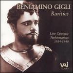 Rarities: Live Operatic Performances, 1934-40