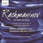 Rachmaninov: For Violin and Piano