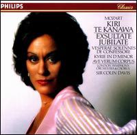 Mozart: Exsultate, Jubilate - Elizabeth Bainbridge (vocals); Gwynne Howell (bass); John Constable (organ); Kiri Te Kanawa (soprano); Ryland Davies (tenor);...