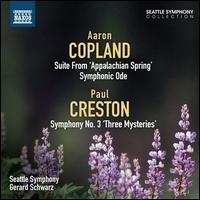 Aaron Copland: Suite from 'Appalachian Spring'; Symphonic Ode; Paul Creston: Symphony No. 3 'Three Mysteries' - Charles Butler (trumpet); David Ritt (trombone); Raymond Davis (cello); Seth Krimsky (bassoon); Susan Gulkis Assadi (viola);...