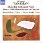 Alexandre Tansman: Music for Violin and Piano