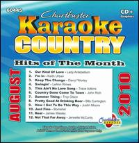 Chartbuster Karaoke: Country Hits Of The Month - August 2010 - Various Artists