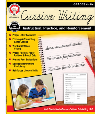 Cursive Writing: Instruction, Practice, and Reinforcement, Grades 4 - 9 - Cameron, Schyrlet