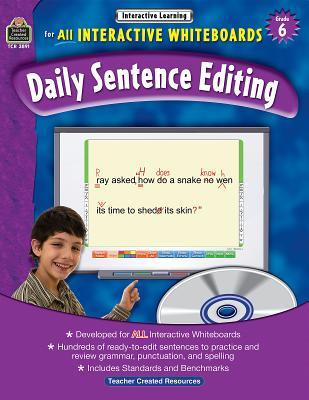 Daily Sentence Editing, Grade 6 - Teacher Created Resources