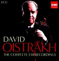 David Oistrakh: The Complete EMI Recordings - David Oistrakh (violin); David Oistrakh (viola); Igor Oistrakh (violin); Jacov Shapiro (horn);...