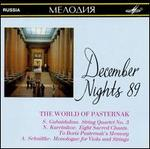December Nights 89: The World of Pasternak