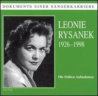 Dokumente Einer S�ngerkarriere: Leonie Rysanek - Albrecht Peter (vocals); Bernd Aldenhoff (vocals); Leonie Rysanek (vocals)