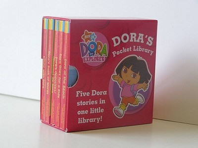 Dora's Little Library: WITH Dora's Opposites AND Count with Dora AND Dora Goes for a Ride AND Dora's Book of Words AND Dora at the Beach - Nickelodeon