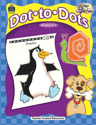 Dot-To-Dots, Grades K-1 - McMahon, Kelly