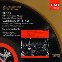 Elgar: Introduction and Allegro; Serenade; Elegy; Sospiri; Vaughan Williams: Fantasias - Allegri Quartet (chamber ensemble); City of London Sinfonia; John Barbirolli (conductor)