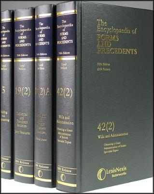 Encyclopaedia of Forms & Precedents - Millett, Peter, M.D. (Editor), and Heathfield, Elizabeth (Editor)