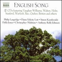 English Song - Adrian Thompson (tenor); Anthony Rolfe Johnson (tenor); Bernadette Greevy (mezzo-soprano);...