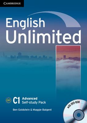 English Unlimited Advanced Self-study Pack (workbook with DVD-ROM) - Goldstein, Ben, and Baigent, Maggie