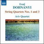 Erno Dohnányi: String Quartets Nos. 1 and 3