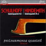 Erwin Schulhoff: Streichquartett No. 1; Paul Hindemith: Streichquartett No. 4