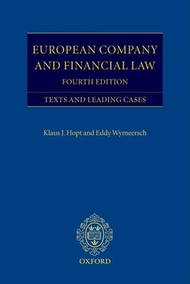 European Company and Financial Law: Texts and Leading Cases - Hopt, Klaus (Editor)