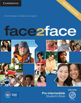Face2face Pre-intermediate Student's Book with DVD-ROM - Redston, Chris, and Cunningham, Gillie